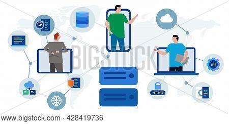 Server Hosting Datacenter Global Hardware Infrastructure International Collaboration Cooperation Man