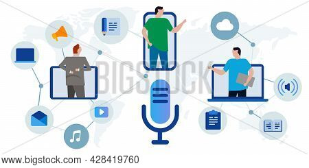 Podcaster Audio Podcast Broadcast Radio Technology Connection Global Multimedia Entertainment Microp