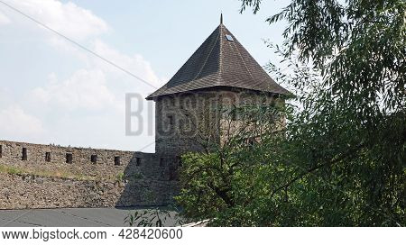 View Of The Fortifications With Tower Of The Castle Helfstyn In The Czech Republic.