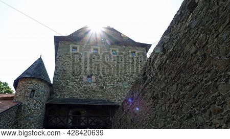 Entrance Gate To The Second Courtyard Of The Hefstyn Castle In The Czech Republic Self-flooded With