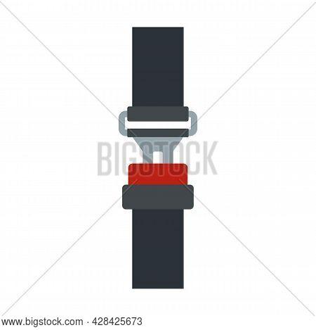Crash Seatbelt Icon. Flat Illustration Of Crash Seatbelt Vector Icon Isolated On White Background