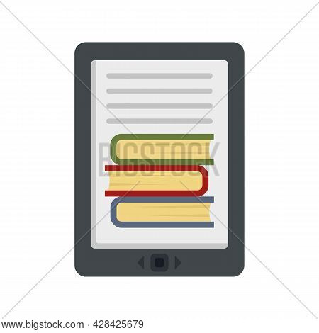 Ebook Icon. Flat Illustration Of Ebook Vector Icon Isolated On White Background