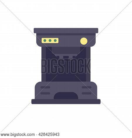 Drip Coffee Machine Icon. Flat Illustration Of Drip Coffee Machine Vector Icon Isolated On White Bac