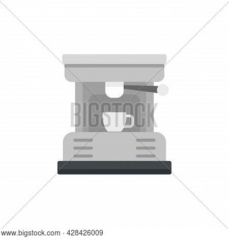 Coffee Machine Cup Icon. Flat Illustration Of Coffee Machine Cup Vector Icon Isolated On White Backg
