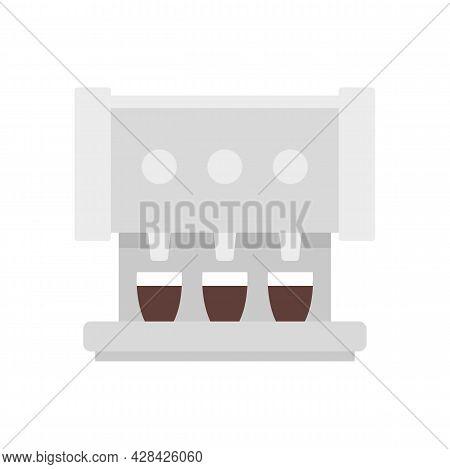 Professional Coffee Machine Icon. Flat Illustration Of Professional Coffee Machine Vector Icon Isola