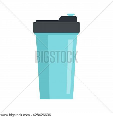 Energy Drink Shaker Icon. Flat Illustration Of Energy Drink Shaker Vector Icon Isolated On White Bac