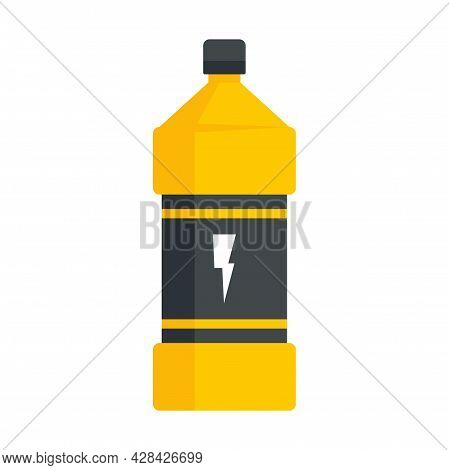 Soft Energy Drink Bottle Icon. Flat Illustration Of Soft Energy Drink Bottle Vector Icon Isolated On