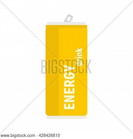 Tonic Energy Drink Icon. Flat Illustration Of Tonic Energy Drink Vector Icon Isolated On White Backg