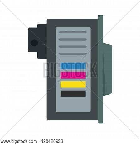 Color Cartridge Icon. Flat Illustration Of Color Cartridge Vector Icon Isolated On White Background