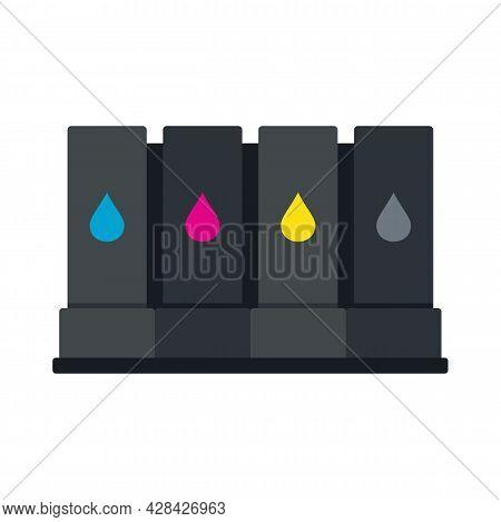 Printer Cartridge Icon. Flat Illustration Of Printer Cartridge Vector Icon Isolated On White Backgro