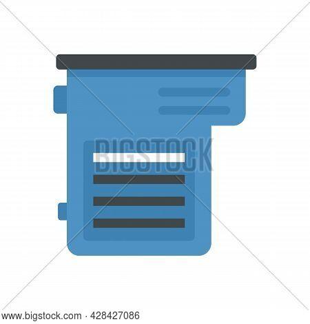 Factory Cartridge Icon. Flat Illustration Of Factory Cartridge Vector Icon Isolated On White Backgro