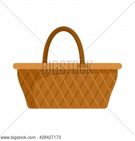 Craft Wicker Icon. Flat Illustration Of Craft Wicker Vector Icon Isolated On White Background