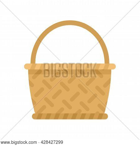 Bamboo Wicker Icon. Flat Illustration Of Bamboo Wicker Vector Icon Isolated On White Background
