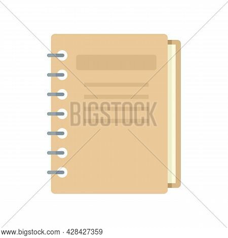 Inventory Notebook Icon. Flat Illustration Of Inventory Notebook Vector Icon Isolated On White Backg