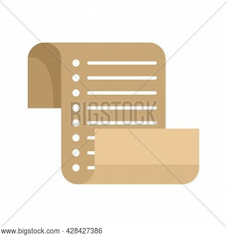 Inventory List Icon. Flat Illustration Of Inventory List Vector Icon Isolated On White Background