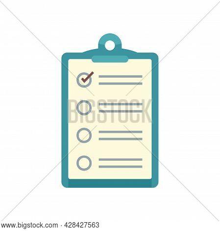 Inventory Checkboard Icon. Flat Illustration Of Inventory Checkboard Vector Icon Isolated On White B