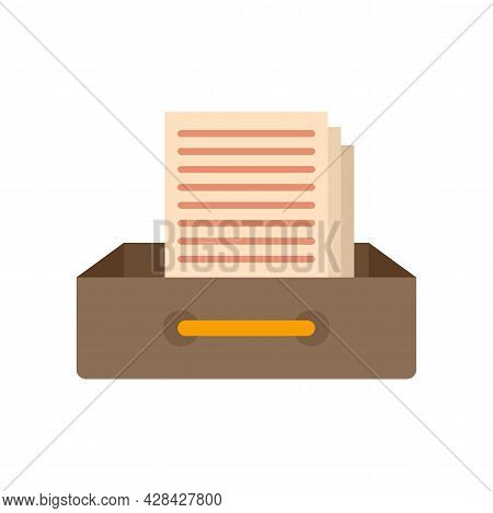 Request Archive Folder Icon. Flat Illustration Of Request Archive Folder Vector Icon Isolated On Whi