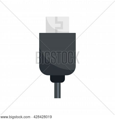 Phone Usb Cable Icon. Flat Illustration Of Phone Usb Cable Vector Icon Isolated On White Background