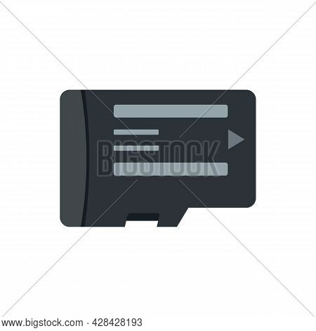 Phone Micro Sd Card Icon. Flat Illustration Of Phone Micro Sd Card Vector Icon Isolated On White Bac