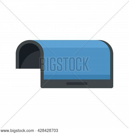 Flexible Display Device Icon. Flat Illustration Of Flexible Display Device Vector Icon Isolated On W