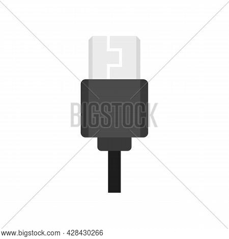 Type C Cable Icon. Flat Illustration Of Type C Cable Vector Icon Isolated On White Background