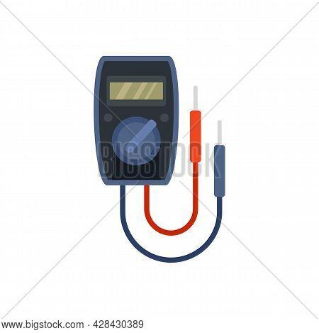 Digital Multimeter Icon. Flat Illustration Of Digital Multimeter Vector Icon Isolated On White Backg