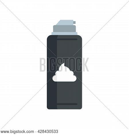 Razor Shaving Foam Icon. Flat Illustration Of Razor Shaving Foam Vector Icon Isolated On White Backg