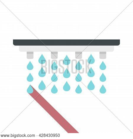 Irrigation System Icon. Flat Illustration Of Irrigation System Vector Icon Isolated On White Backgro