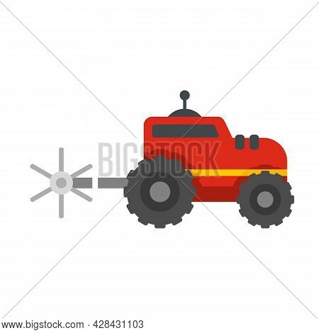 Farm Tractor Icon. Flat Illustration Of Farm Tractor Vector Icon Isolated On White Background