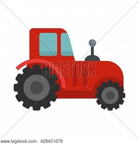 Autonomous Tractor Icon. Flat Illustration Of Autonomous Tractor Vector Icon Isolated On White Backg