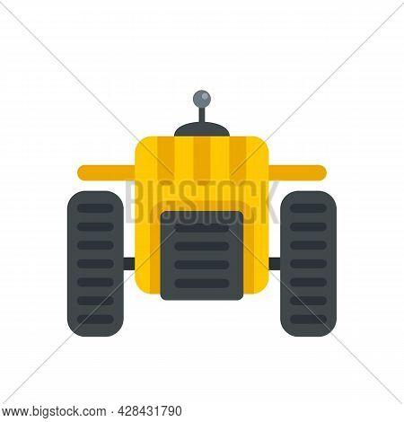 Autonomous Farm Machine Icon. Flat Illustration Of Autonomous Farm Machine Vector Icon Isolated On W
