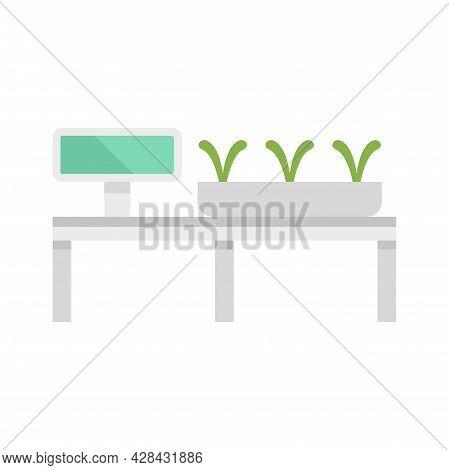 Smart Growing Plants Icon. Flat Illustration Of Smart Growing Plants Vector Icon Isolated On White B