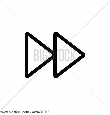 Forward Icon Isolated On White Background. Forward Icon In Trendy Design Style For Web Site And Mobi