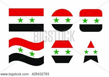 Syria Flag Simple Illustration For Independence Day Or Election. Simple Icon For Web