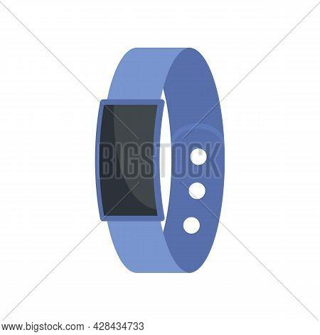 Pedometer Bracelet Icon. Flat Illustration Of Pedometer Bracelet Vector Icon Isolated On White Backg