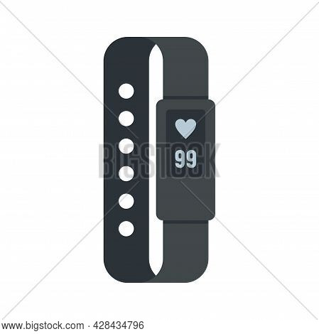 Digital Bracelet Icon. Flat Illustration Of Digital Bracelet Vector Icon Isolated On White Backgroun