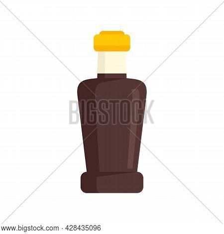 Vinegar Bottle Icon. Flat Illustration Of Vinegar Bottle Vector Icon Isolated On White Background