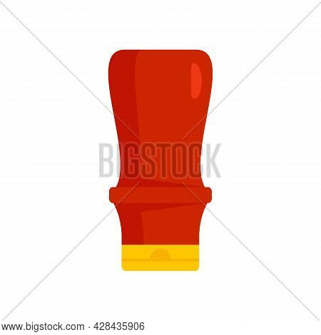 Ketchup Plastic Bottle Icon. Flat Illustration Of Ketchup Plastic Bottle Vector Icon Isolated On Whi