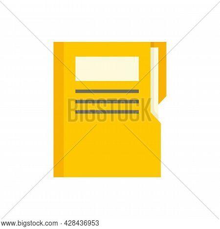 Editor Folder Icon. Flat Illustration Of Editor Folder Vector Icon Isolated On White Background
