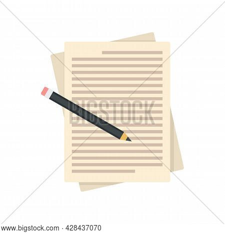 Paper Editor Icon. Flat Illustration Of Paper Editor Vector Icon Isolated On White Background