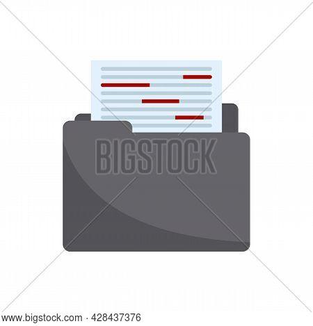 Summary Editor Icon. Flat Illustration Of Summary Editor Vector Icon Isolated On White Background