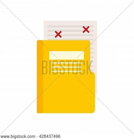 Blog Folder Edit Icon. Flat Illustration Of Blog Folder Edit Vector Icon Isolated On White Backgroun