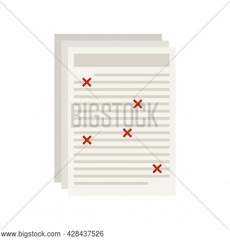 Business Editor Icon. Flat Illustration Of Business Editor Vector Icon Isolated On White Background