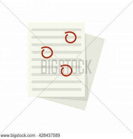School Test Edit Icon. Flat Illustration Of School Test Edit Vector Icon Isolated On White Backgroun