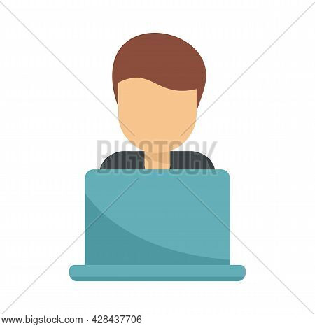 Tutor Online Icon. Flat Illustration Of Tutor Online Vector Icon Isolated On White Background