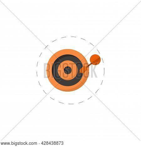Dart. Archery Board Clipart. Dart. Archery Board Simple Vector Clipart. Dart. Archery Board Isolated