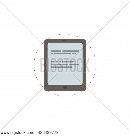 Ebook Clipart. Electronic Book Simple Vector Clipart. Electronic Book Isolated Clipart.