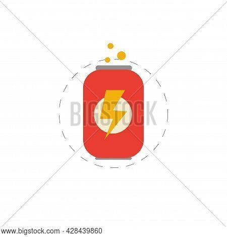 Energy Drink Clipart. Energy Drink Simple Vector Clipart. Energy Drink Isolated Clipart.
