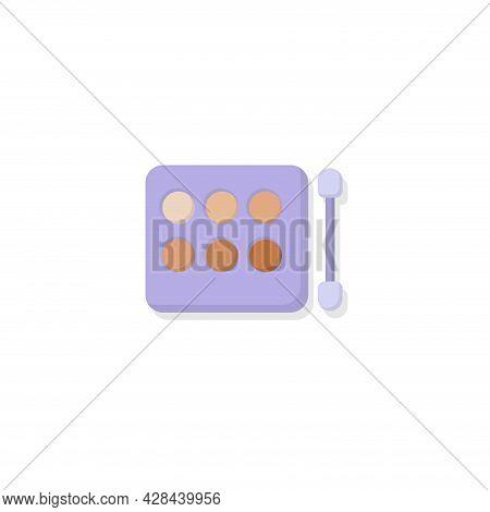 Eye Shadow Kit Clipart. Eye Shadow Kit Simple Vector Clipart. Eye Shadow Kit Isolated Clipart.