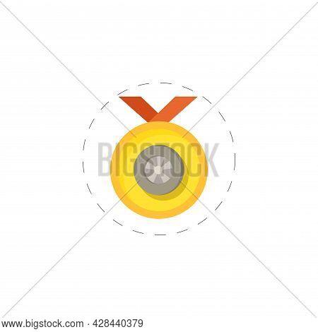 Winner Medal Clipart. Winner Medal Simple Vector Clipart. Winner Medal Isolated Clipart.